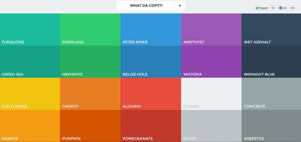 رنگهای طراحی فلت